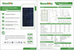 Datenblatt des Herstellers ReneSola
